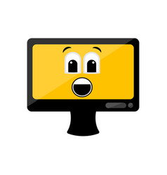 isolated surprised computer screen emote vector image