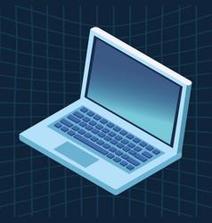 laptop icon cartoon vector image