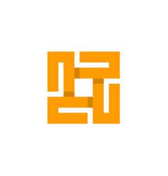 letter o square monogram logo vector image