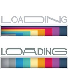 Loading bars vector image