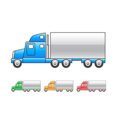 lorry mac truck icon vector image