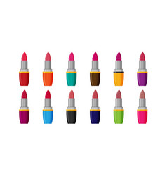 makeup beauty lipstick tube accessory colorful vector image