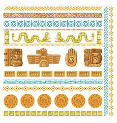 maya civilization graphics patterns aztec vector image