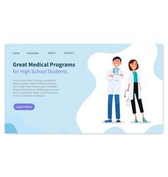 medical program online from doctor webpage vector image