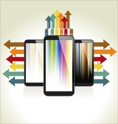 Modern design with a smart phone vector image