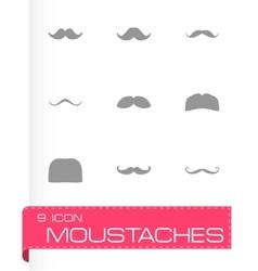 moustaches icon set vector image