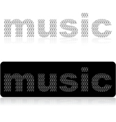 Music word vector image