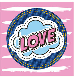 Patch fashion denim vector