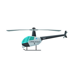 police helicopter emergency transport side view vector image