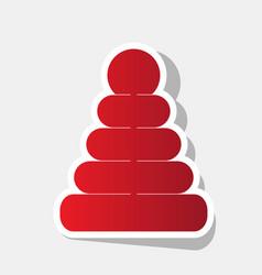 pyramid sign new year vector image