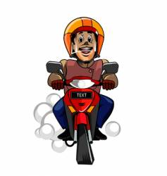 safety riding vector image vector image