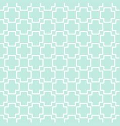 Seamless geometric pattern plus sign on green vector