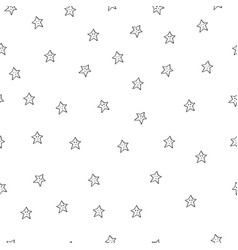seamless pattern with black stars on white vector image