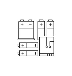 Set different types batteries vector