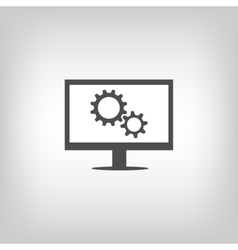 Settings sign vector image