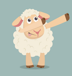 sheep doing dabbing movement vector image