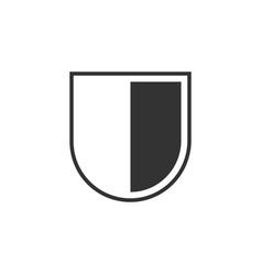 shield icon graphic design template vector image