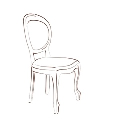 Sketched chair vector