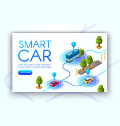 Smart car tracking technology vector