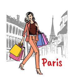 street of paris vector image