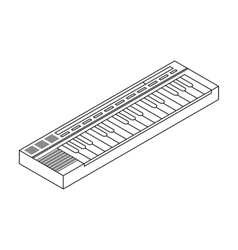 Synthesizer icon in outline style isolated on vector
