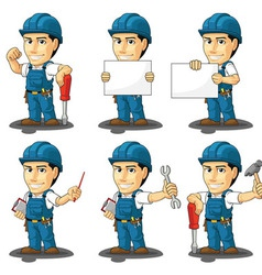 Technician or Repairman Mascot vector image