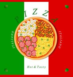 The theme pizza vector