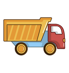 toy truck icon cartoon style vector image vector image