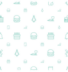 traditional icons pattern seamless white vector image