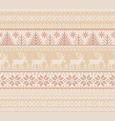 Ugly sweater merry christmas white beige nude vector