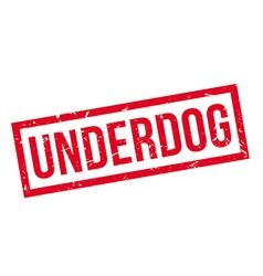 Underdog rubber stamp vector
