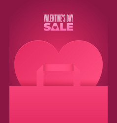 valentines day sale romantic pink design vector image