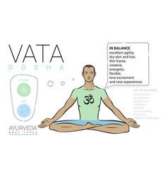 Vata dosha - ayurvedic body type vector