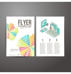 Abstract brochure flyer design mobile and desktop vector