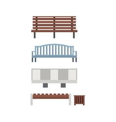 city and park benches vector image vector image