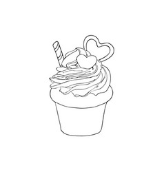 hand drawn cake isolated design elements vector image vector image