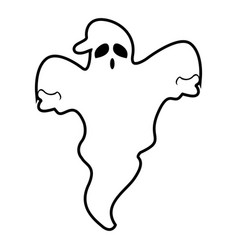 isolated ghost vector image