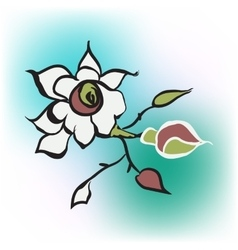 rose icon in blur background vector image vector image