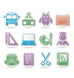 school and education objects vector image vector image