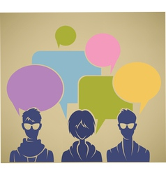 chatting youht background vector image vector image