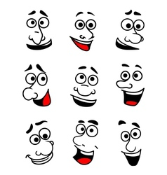 Emotional faces set vector image vector image