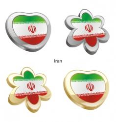 flag of Iran vector image vector image