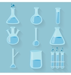 Laboratory chemical bottles glassware vector image vector image
