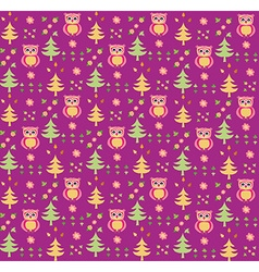 Seamless retro colourful owl bird pattern for kids vector image vector image