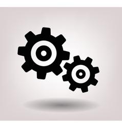 black gearwheel mechanism vector image vector image