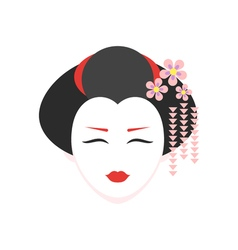 flat style of geisha vector image vector image