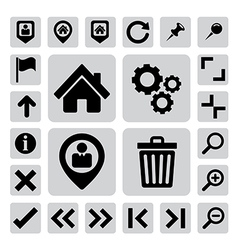 Internet icons set eps 10 vector image vector image