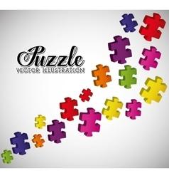 Puzzle pieces and big ideas vector image vector image