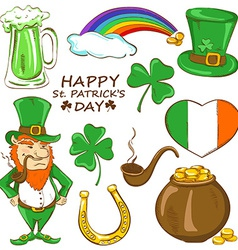 Set of St Patricks day icons vector image vector image