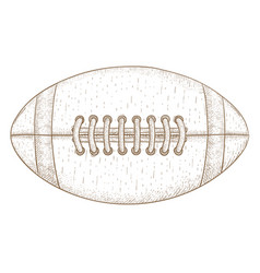 american football ball hand drawn sketch vector image
